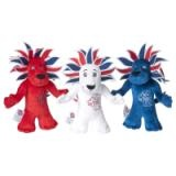 London 2012 Olympic Games Team GB Lion Mascot, Set Of 3, Red, White & Blue, 20cm