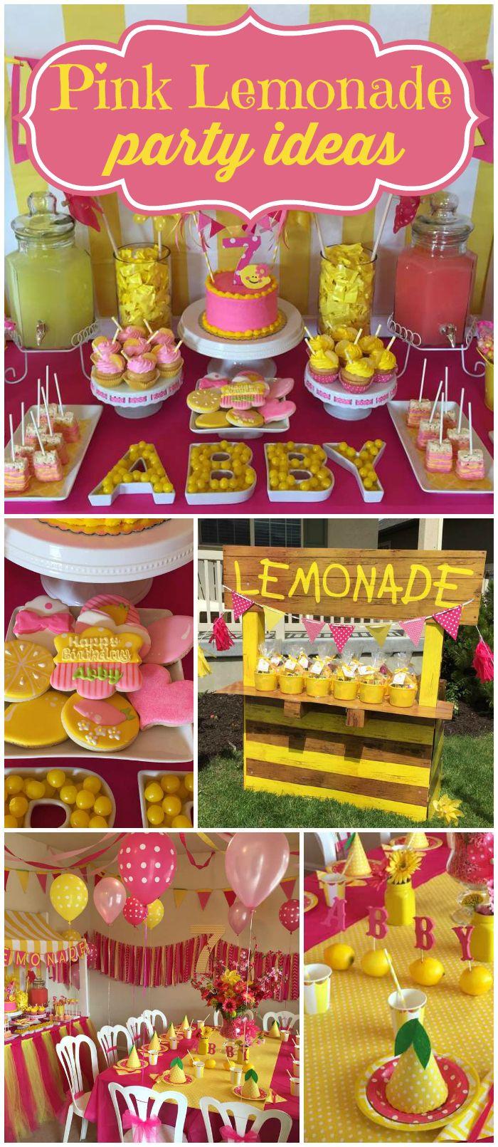 Lemonade Lemons Birthday Abbys Stand Party Girl ThemesFun