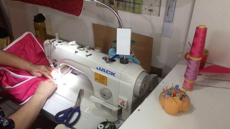 como colocar vies em bolsas e malas em uma maquina industrial