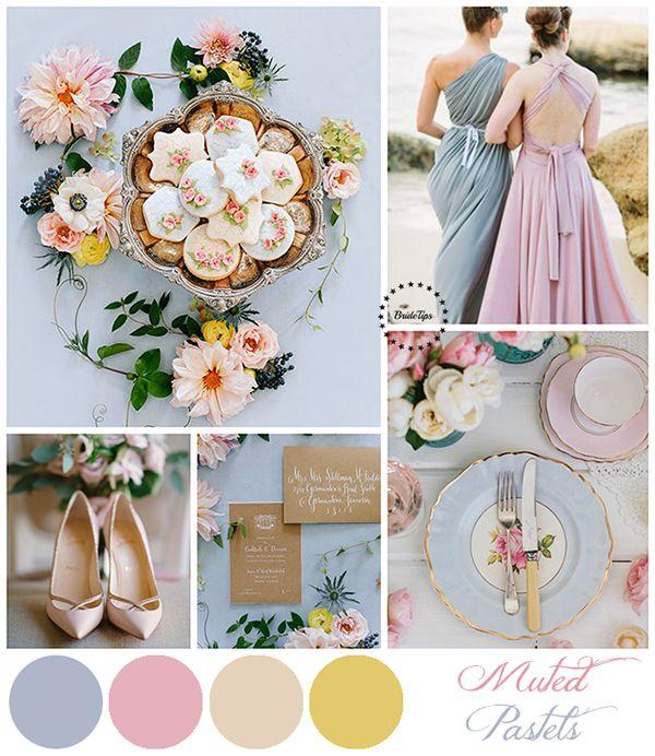 Голубая свадьба! Идеи для вдохновения: пастель, свежая палитра голубого с зеленым, благородная - с бежевым сочная - с красным и нежная - с персиковым!