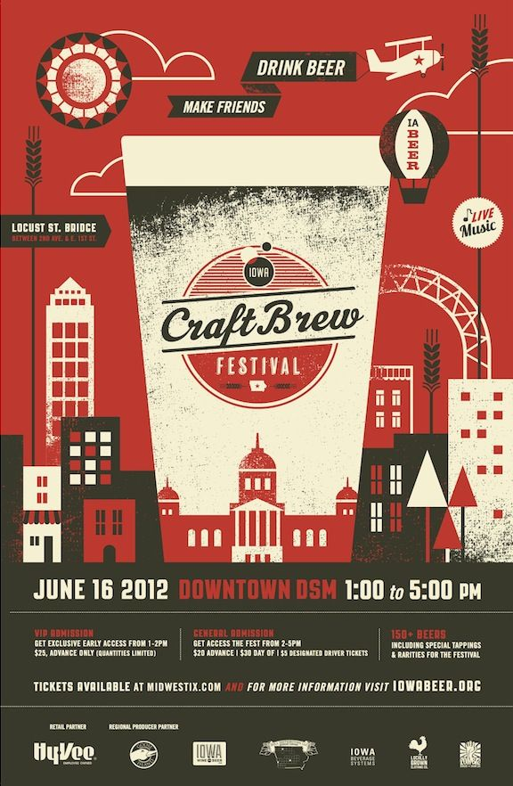 Iowa Brewers Guild » Iowa Craft Brew Festival — love the design (by Basemint)