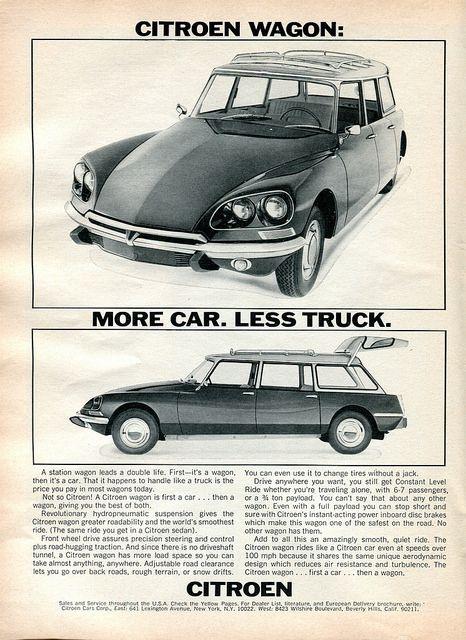 1968 Citroen Wagon Advertisement Road & Track November 1968 | by SenseiAlan