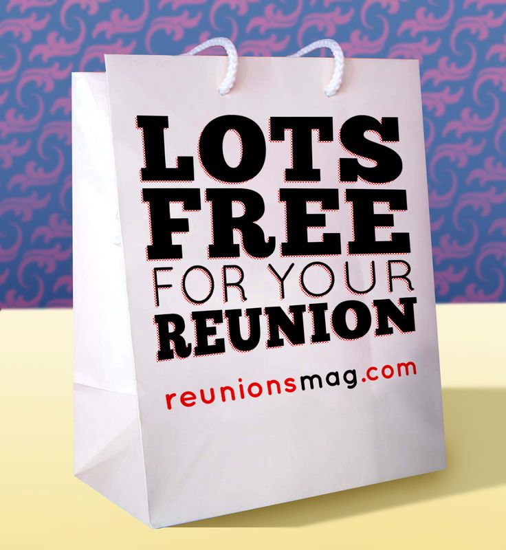 Lots free for your class, family, or military reunion! reunionsmag.com has a plethora of free reunion resources to help you along every step of the planning process.