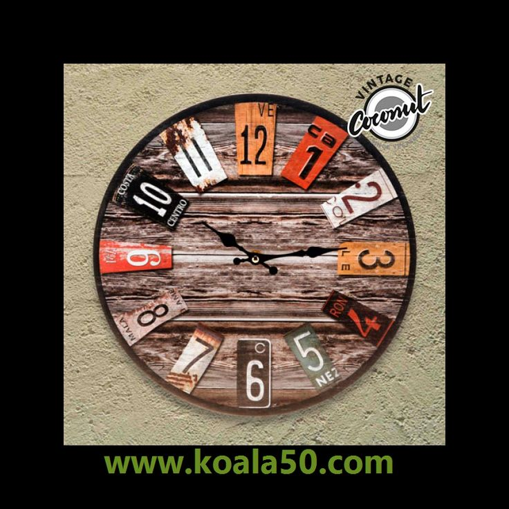 Reloj de Pared Antique Vintage Coconut - 4,35 €   ¡Por fin puedes decorar de manera especial el rincón favorito de tu hogar! El diseño vintage del reloj de pared Antique Vintage Coconut le dará ese toque retro y exclusivo a las paredes de tu...  http://www.koala50.com/relojes-de-pared-sobremesa/reloj-de-pared-antique-vintage-coconut