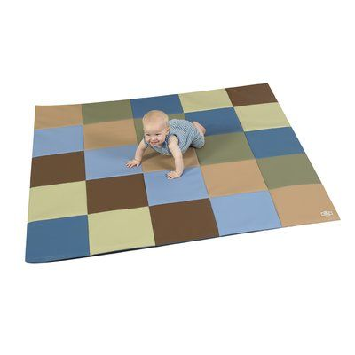 Children's Factory Patchwork Crawly Mat Color: Brown/Beige/Sage