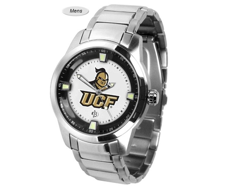 The Titan Steel Central Florida Knights Watch features a quartz accurate movement, stainless steel band and Knights team logo. Very Stylish. Free Shipping.  Visit SportsFansPlus.com for Details.