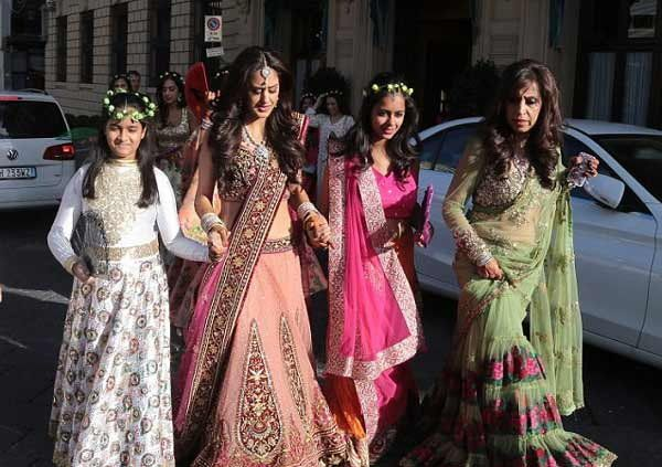 17 best images about indian bridesmaids by weddingsonline for Most expensive wedding dress in india