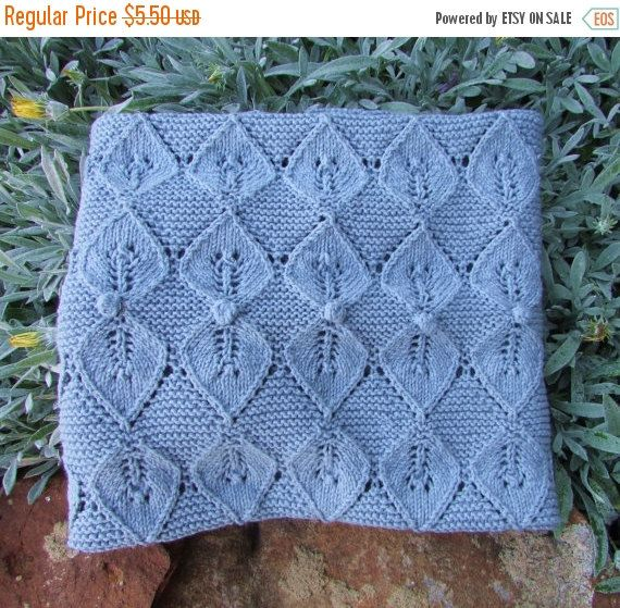 ON SALE Fairy Leaves Baby Blanket Knitting by BiggerthanlifeKnits