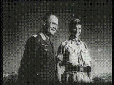Der Stern von Afrika. Hans-Joachim Marseille with Erwin Rommel, during his visit to the JG 27