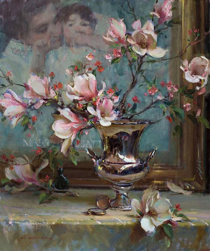 """Mary and Magnolia"" 36 x 30 Daniel Gerhartz Studio"