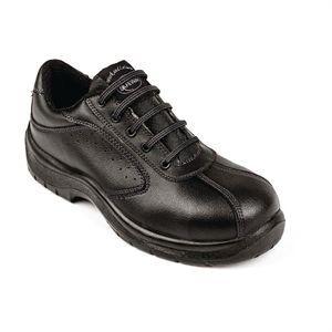 Zapatos con perforación lateral Lites negros con cordones