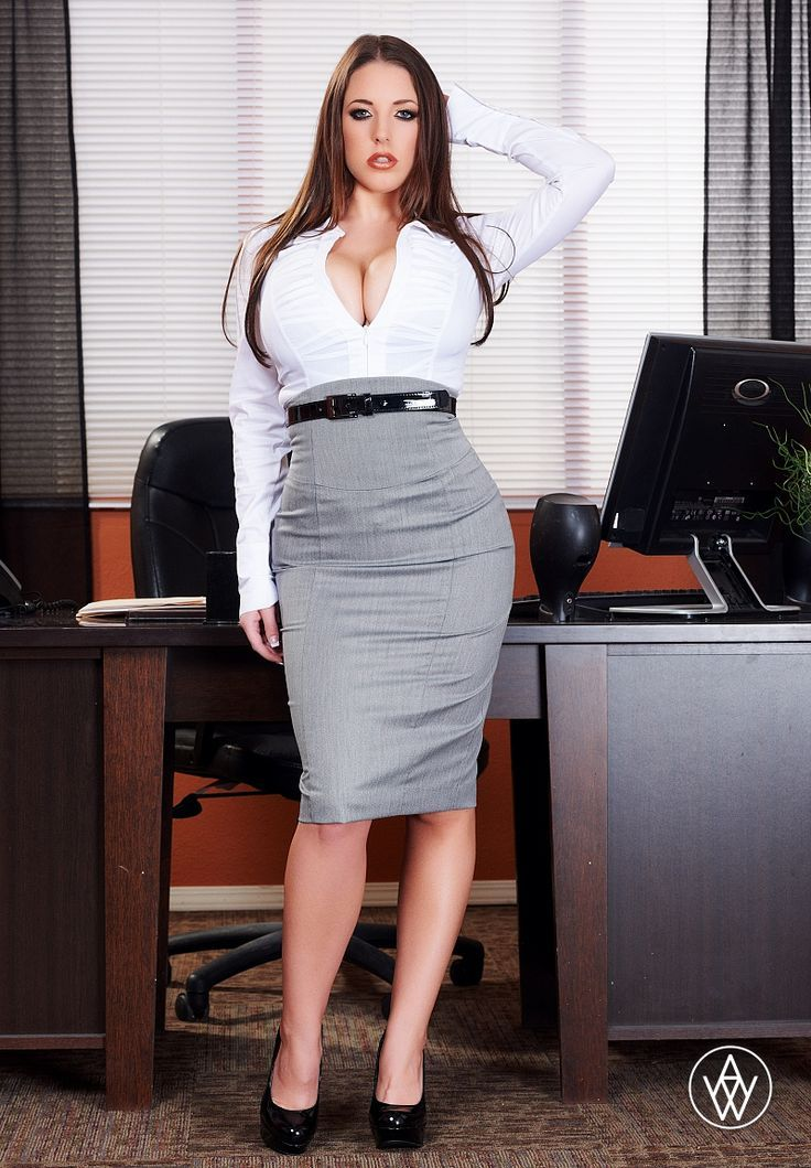 Office skirt booty big