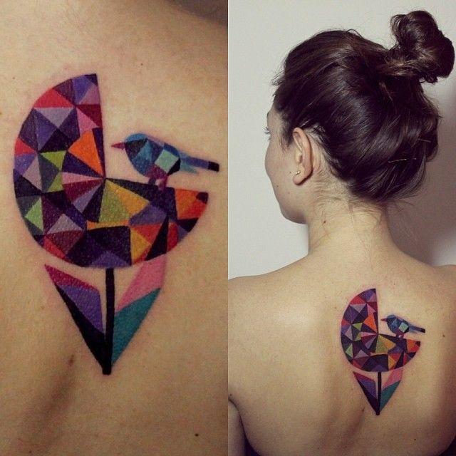 #flower #dandelion #bird #tattoo ❤