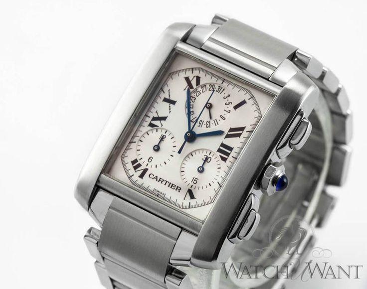 Cartier Tank Francaise ChronoFlex Chronograph - Stainless Steel - Ref. W51001Q3