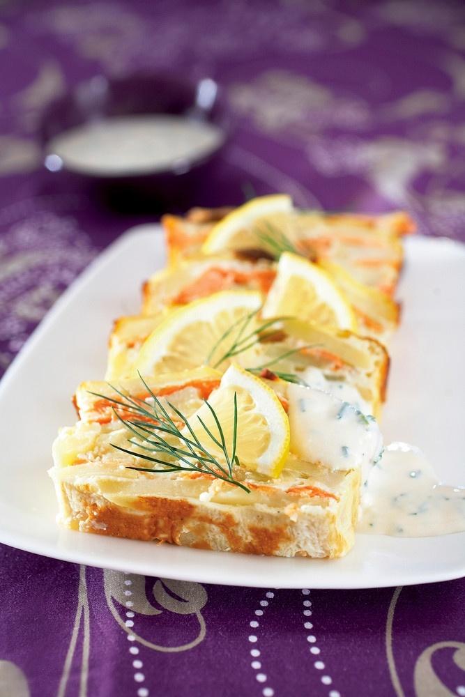 Lohi-perunavuoka ja kermaviilikastike | K-Ruoka