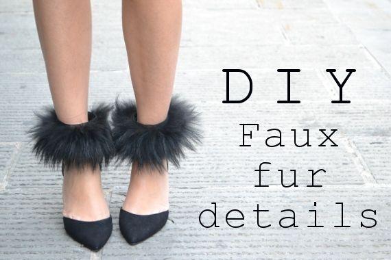 faux fur details diy project