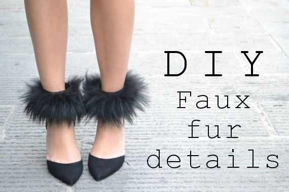 faux fur details diy project...totally ridiculous and i'm not sure where or if i would ever wear this but i love it