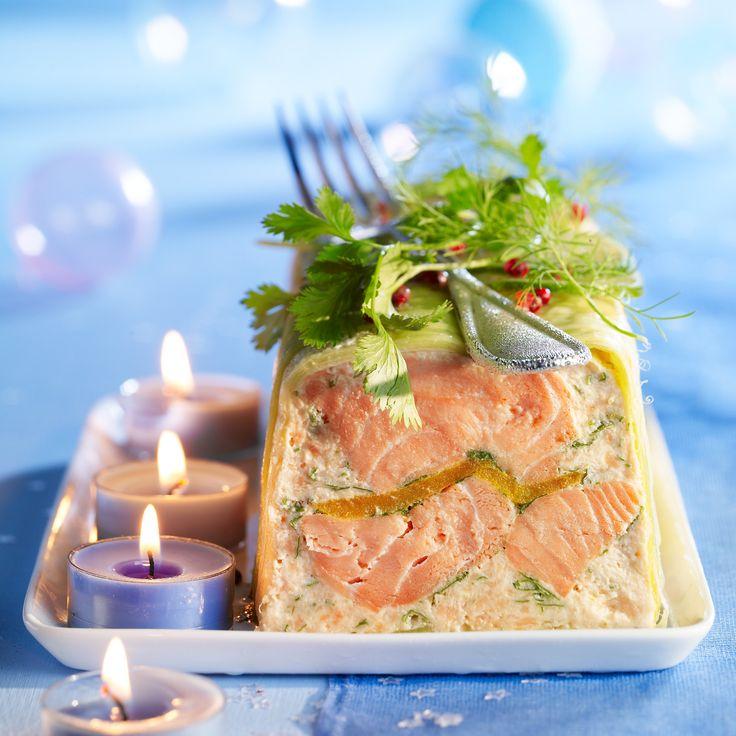 Terrine de saumon à la mangue et au gingembre