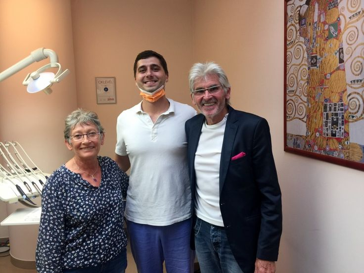 Mr. and Mrs. Danard with their oral surgeon