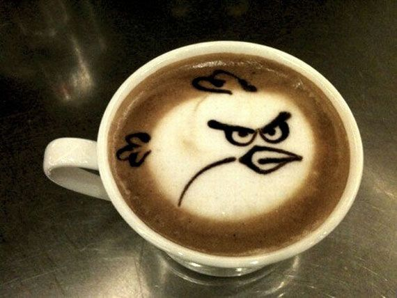 Angry Birds Latte