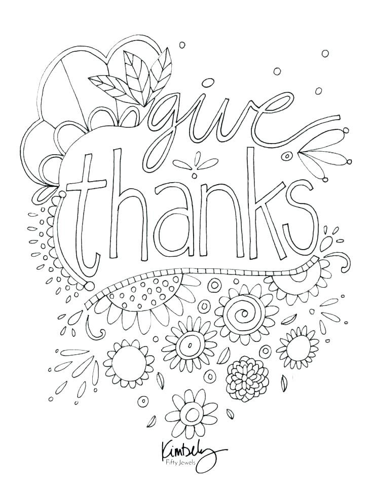Oh Give Thanks To The Lord Coloring Page Give Thanks Coloring