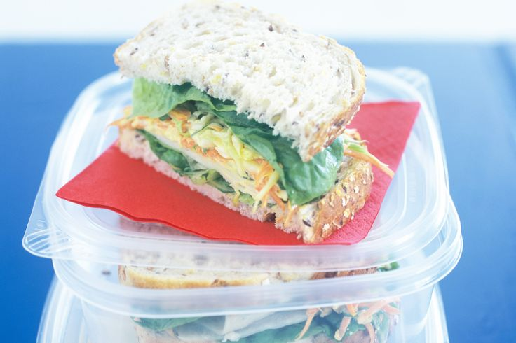 Chicken mayonnaise is made exciting again in this tasty lunch-box idea.