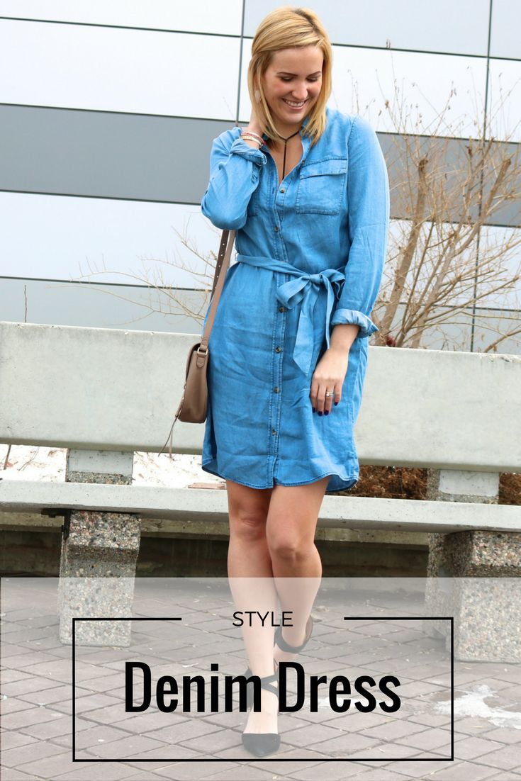 Absolutely love a denim dress for the spring and summer! Such a great add to your closet!