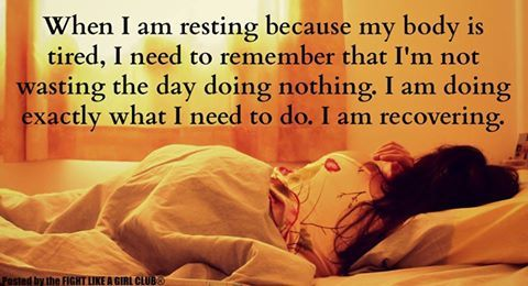 Rest is built into the day! - V)O(M