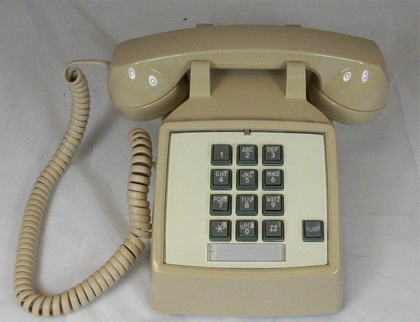 Cortelco Itt 2500 V 20f 250044 Vba Desk Phone With