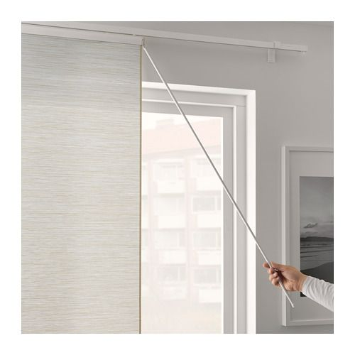 VIDGA Draw rod IKEA Makes it easy to move and arrange panel curtains and still keep them clean.