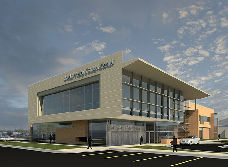 3 d revit exterior rendering jordan valley cancer center - Revit exterior rendering settings ...