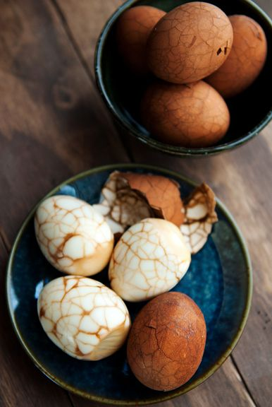 Spring Equinox: Chinese Tea Eggs, with Tea or Beetroot Juice