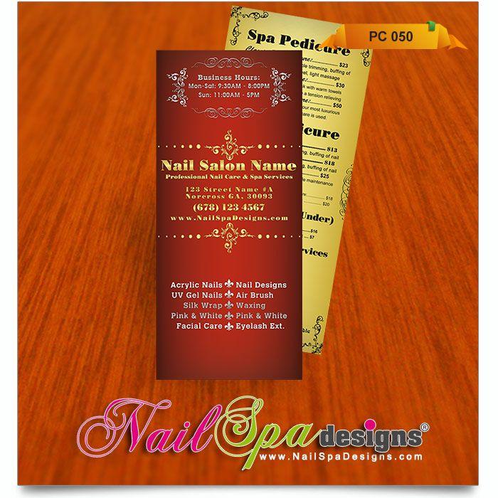 50 best Nail Spa Pricelist Design images on Pinterest List - sample spa menu template