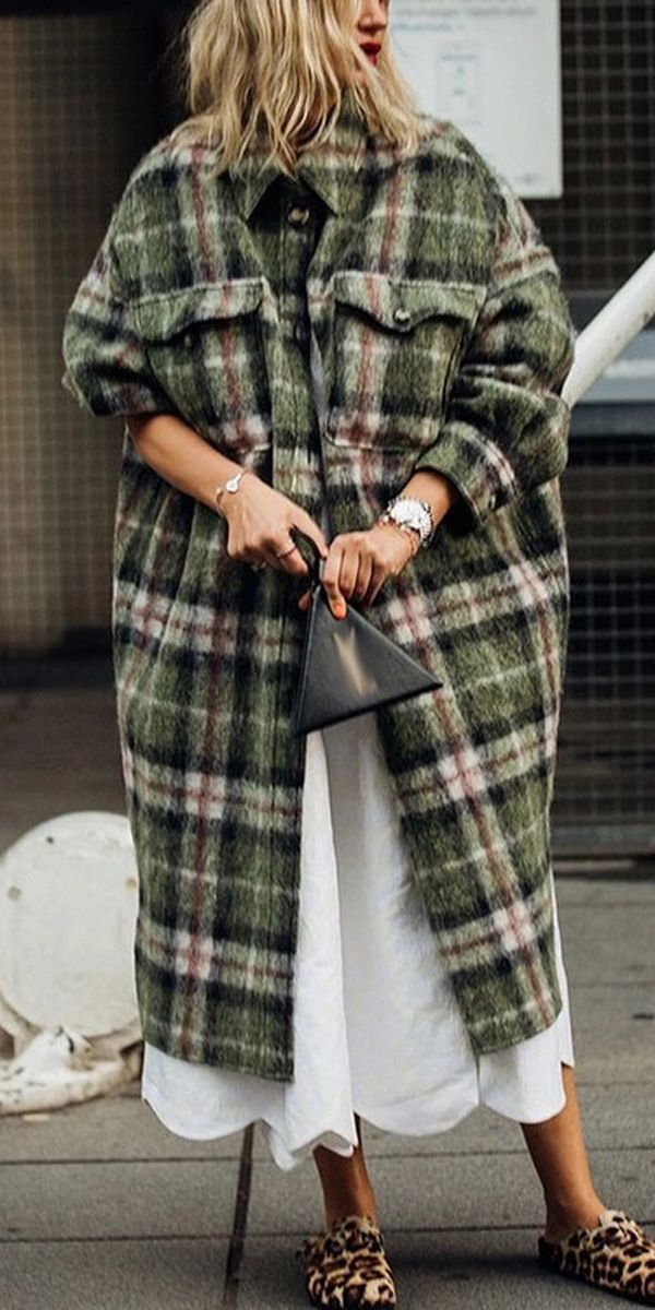 Fashion Plaid Coat