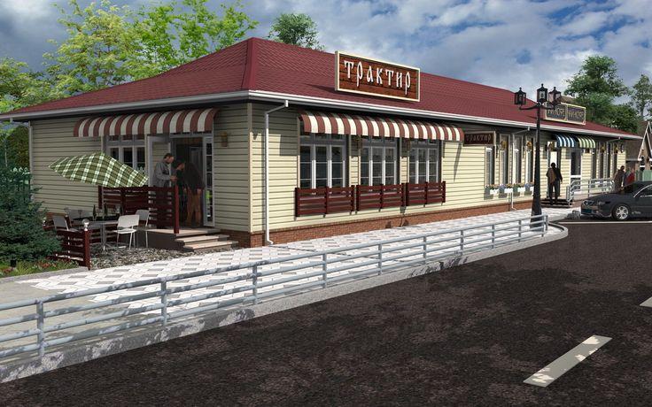 Shop with Pub 3D Model / Rendering - Created by Michael Pechkurov using TurboFloorPlan 3D Home & Landscape Pro v16 design software | #CAD #Software, #Design, #Drafting, #Rendering, #3D #Model, #Architectural #Design, #Home #Design