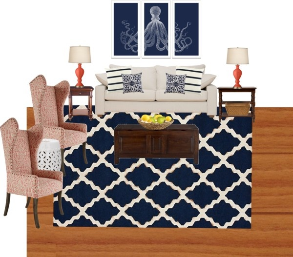 17 Best Images About Grey Navy And Coral Living Room On