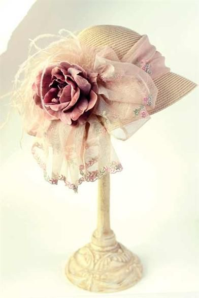 MIDSUMMER NIGHTS BONNET @ Victorian Trading Company Love all their hats-they have so many luscious styles...great hat!