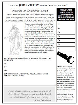 Why is Jesus Christ important - handout