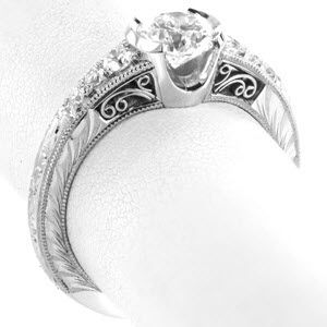 Design 3312 - Hand Engraved Engagement Rings - Knox Jewelers - Image for Design 3312