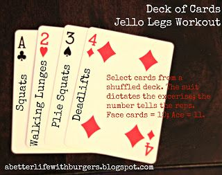 Deck of Cards Workout...cool idea for people like me who can't decide what workout to do!