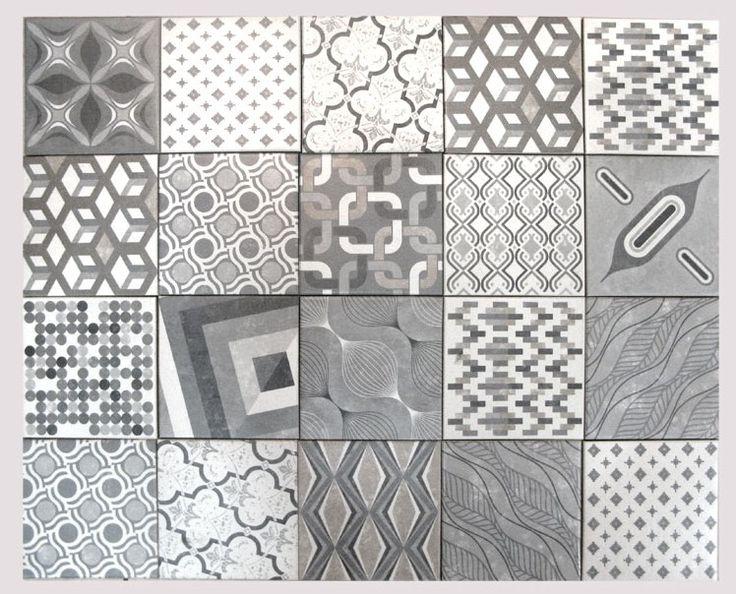 Carrelage 18x18 imitation carreau ciment Europe Mix - Natucer - Carrelage 1er choix