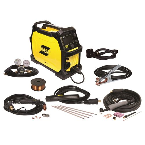 Esab 0558102239 Rebel EMP 215ic Multi-Process Dual Voltage Welder MIG STICK TIG and more High quality welding supplies from Weldfabulous.com   It's bae😍