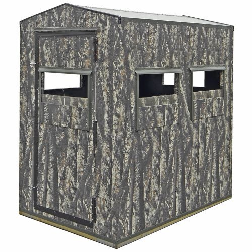 The Shadow Hunter Wild One Bow/Gun Combination Blind fits up to 2 hunters with chairs and features 4 gun windows and 2 bow windows with 360° viewing.