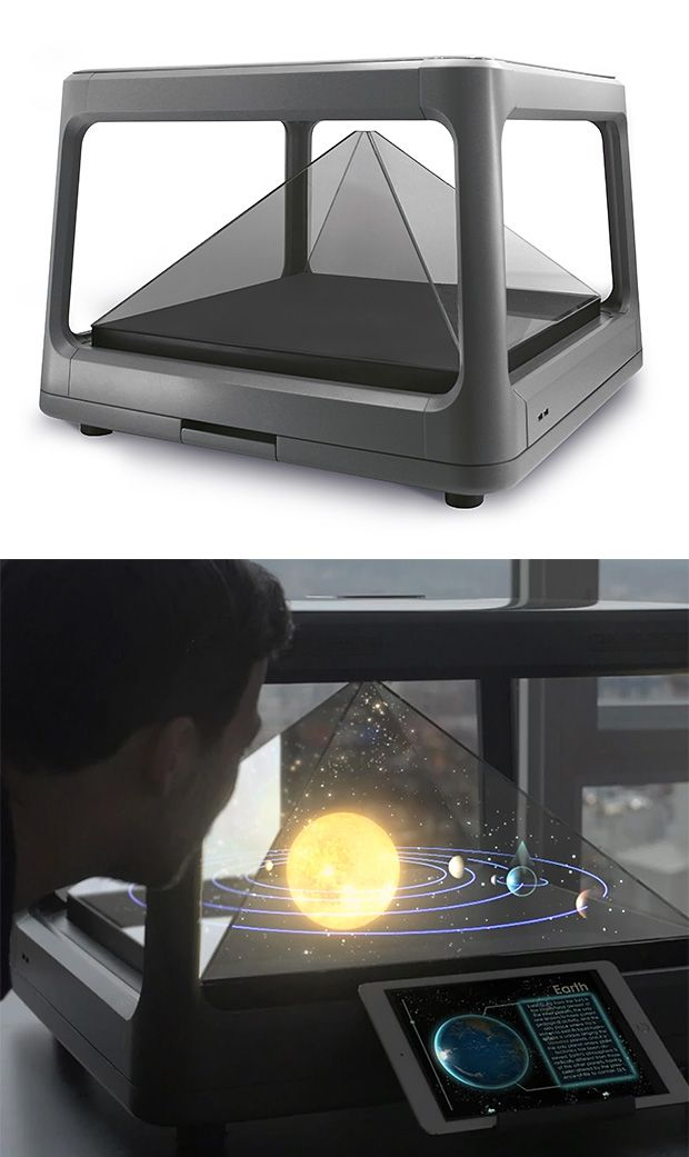 Holus Interactive Tabletop Holographic Display - Holus is a tabletop holographic platform that converts any digital content from a computer, tablet, or smartphone into a 3D hologram.