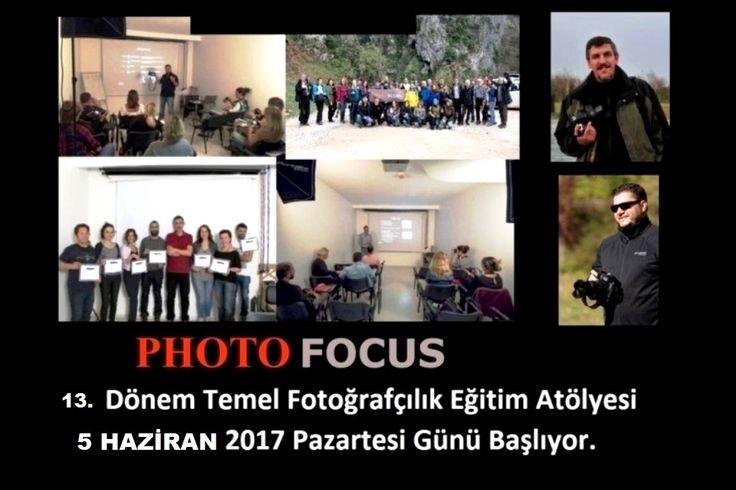 13. Dönem Temel Fotoğrafçılık Eğitim Atölyesi 5 Haziran 2017 Pazartesi Günü Başlıyor...