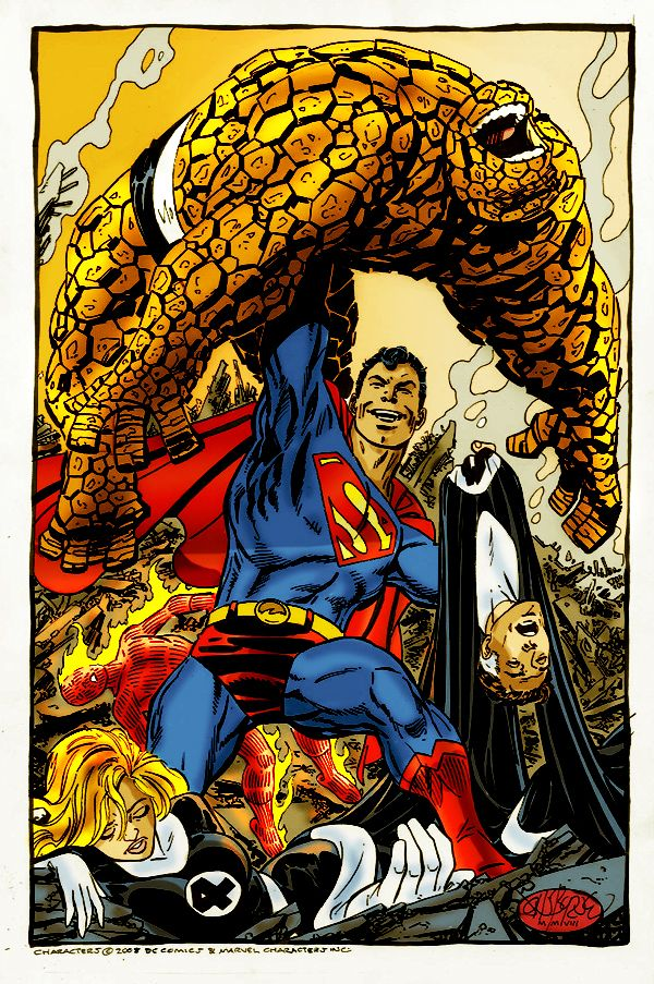 superman vs fantastic four by namorsubmariner on deviantART