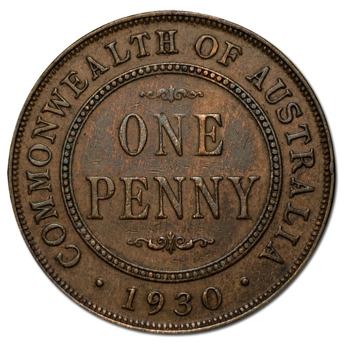 1930 Penny gVF. Australia's highest profile rarity, hotly pursued in any…