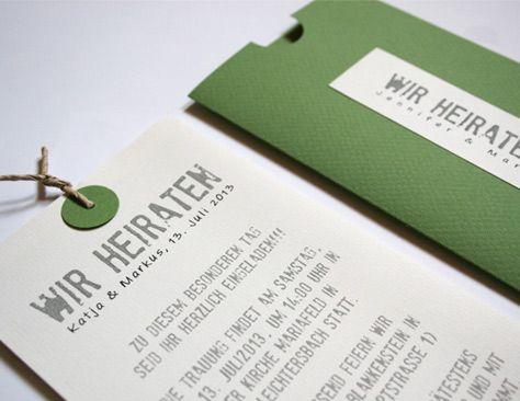 """Jetzt gibt es auch die grüne Variante der """"Be Pure"""" Serie Hochzeitskarte :  Be Pure in Green! Für die grüne Sommer-Traumhochzeit.   Mehr pix auf www.aylando.de"""