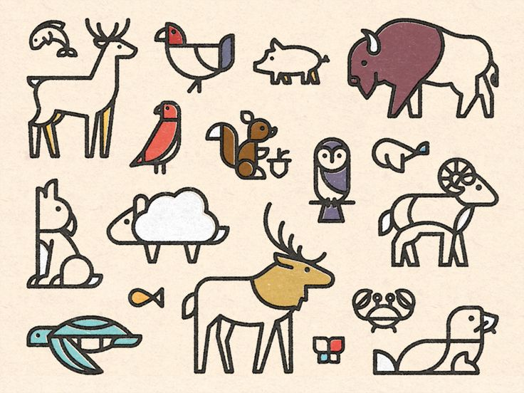 Dribbble - Animal Friends by Dangerdom