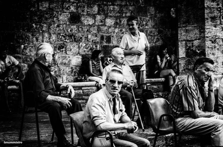 Meeting... - San Gimignano, Italy, Tuscany, Europe